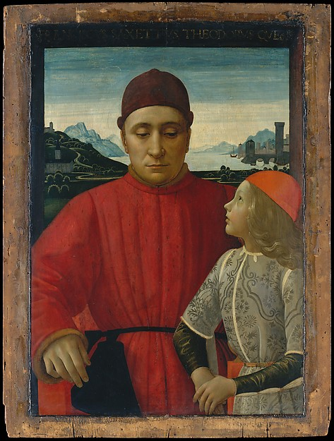 The Art Curator for Kids - Fathers in Art History - Domenico Ghirlandaio, Francesco Sassetti (1421–1490) and His Son Teodoro, ca. 1488