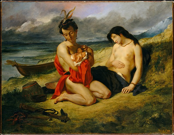 The Art Curator for Kids - Fathers in Art History - Eugène Delacroix, The Natchez, 1835