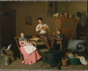 The Art Curator for Kids - Fathers in Art History - Henry Mosler, Just Moved, 1870