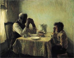 The Art Curator for Kids - Fathers in Art History - Henry Ossawa Tanner, The Thankful Poor, 1894