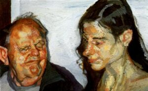 The Art Curator for Kids - Fathers in Art History - Lucian Freud, Daughter and Father, 2002