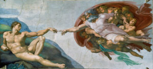 The Art Curator for Kids - Fathers in Art History - Michelangelo, The Creation of Adam, 1512