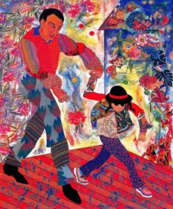 The Art Curator for Kids - Fathers in Art History - Miriam Schapiro, Father and Daughter, 1997