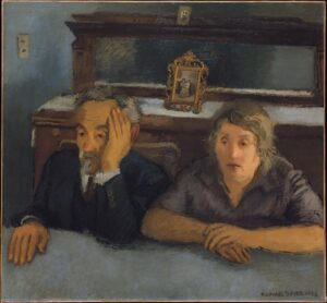 The Art Curator for Kids - Fathers in Art History - Raphael Soyer, The Artist's Parents, 1932