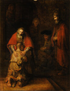 The Art Curator for Kids - Fathers in Art History - Rembrandt van Rijn, The Return of the Prodigal Son, c. 1662