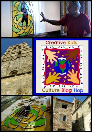 The Art Curator for Kids - Creative Kids Culture Blog Hop - Stained Glass and Elne Cathedral2