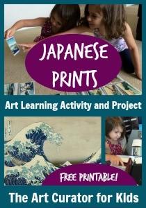 The Art Curator for Kids - Japanese Art for Preschoolers - Mount Fuji ukiyo-e prints - Hokusai lesson for kids - Activity and Printable