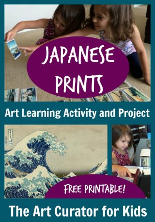The Art Curator for Kids - Japanese Art for Preschoolers - Mount Fuji ukiyo-e prints - Hokusai lesson for kids - Activity and Printable