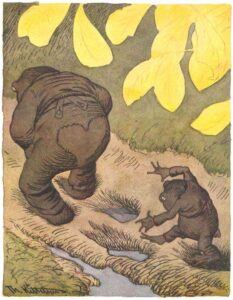 The Art Curator for Kids - Fathers in Art History - Theodor Severin Kittelsen, My Son Tred Always Follow Father's Footsteps, 1894