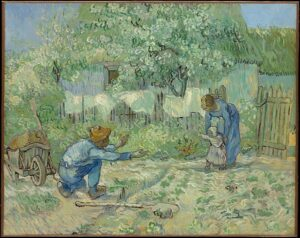 The Art Curator for Kids - Fathers in Art History - Vincent van Gogh, First Steps, after Millet, 1890