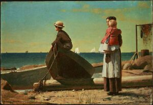 The Art Curator for Kids - Fathers in Art History - Winslow Homer, Dad's Coming, 1873