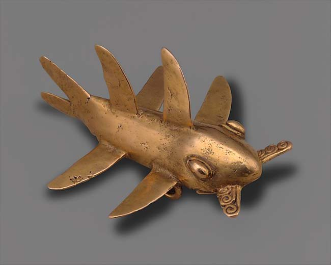 The Art Curator for Kids - 10 Awesome Sharks in Art for Shark Week - Chiriqui, Shark Pendant [2], 11th-16th century, Met Museum