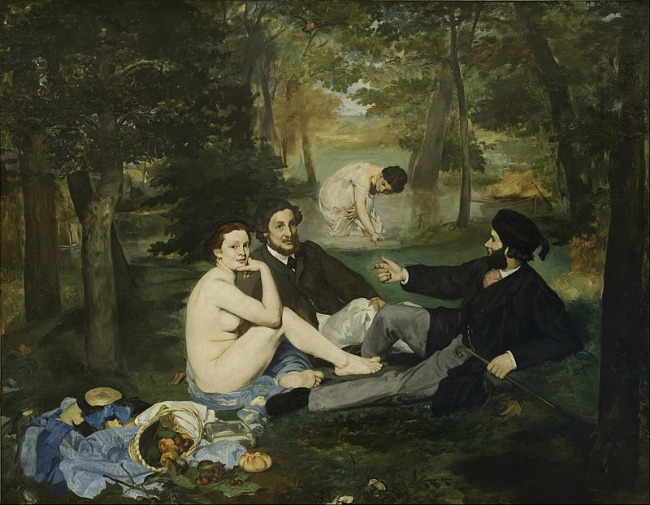 Edouard Manet, Le Dejeuner sur L'Herbe (Luncheon on the Grass), 1863