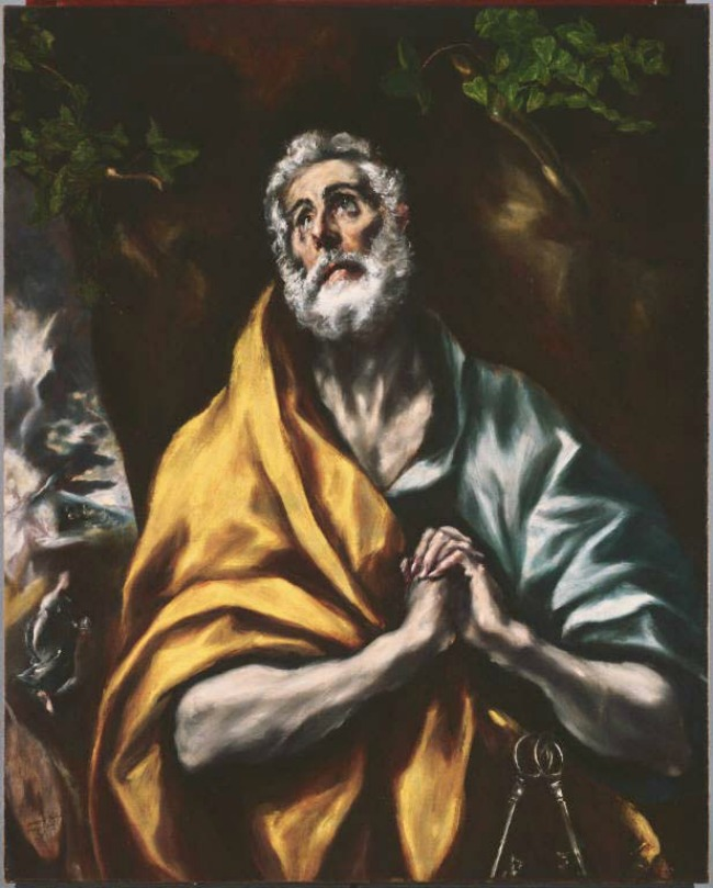 El Greco, The Repentant Saint Peter, 1600-05
