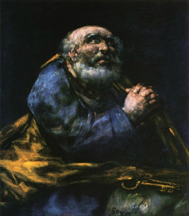 Francisco Goya, The Repentant Saint Peter, c. 1820