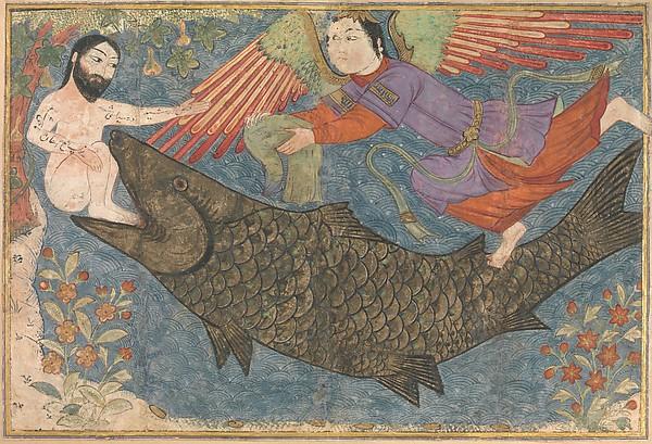 Islamic, Jonah and the Whale, Folio from a Jami al-Tavarikh (Compendium of Chronicles), ca. 1400
