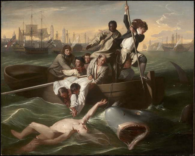 The Art Curator for Kids - 10 Awesome Sharks in Art for Shark Week - John Singleton Copley, Watson and the Shark, 1782