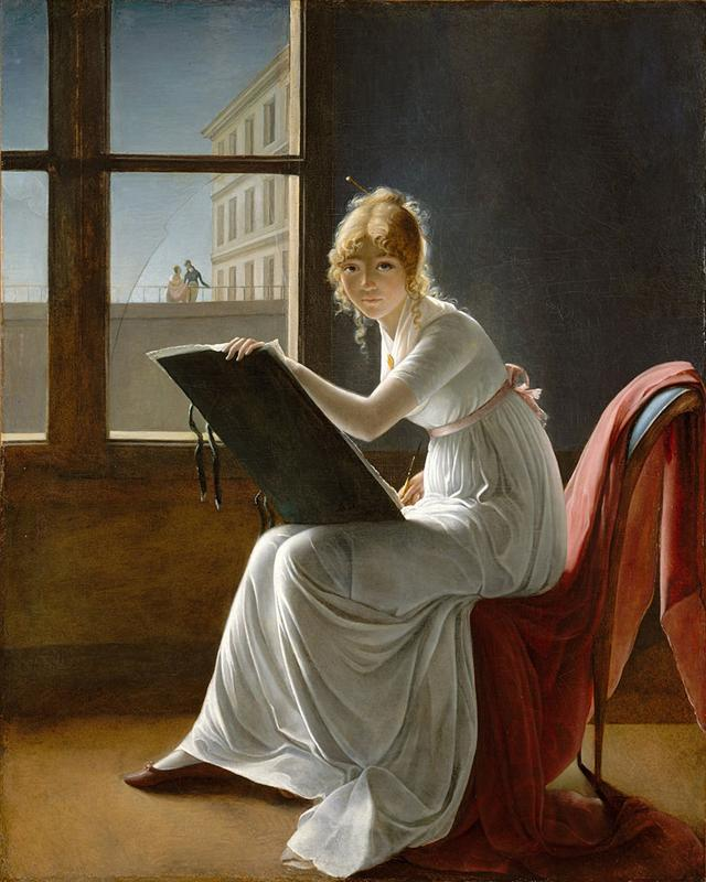 Marie-Denise Villers, Young Woman Drawing, 1801
