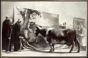 Mark Tansey, The Innocent Eye Test, 1981