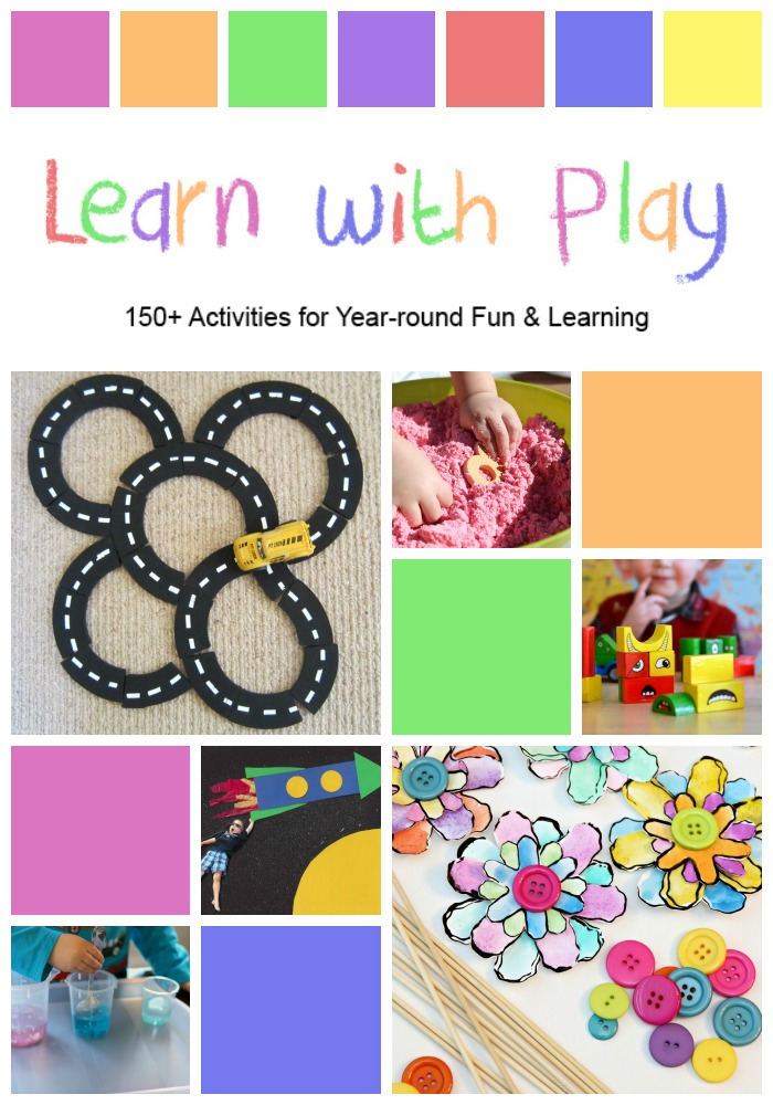 Learn with Play 150+ Activities for Year-round Fun and Learning - A GIANT COLLECTION OF HANDS-ON KIDS ACTIVITIES. The perfect book to have on hand for inspiring you on holidays, weekends, or anytime the kids just need something to do! A fun mix of hands-on fun with learning, celebrating, and appreciating family time.