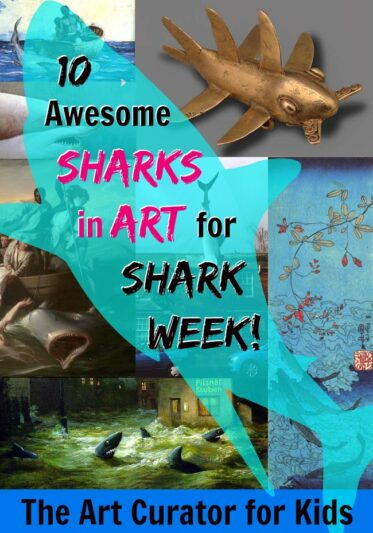 The Art Curator for Kids - 10 Awesome Sharks in Art for Shark Week, Sharks in Art History