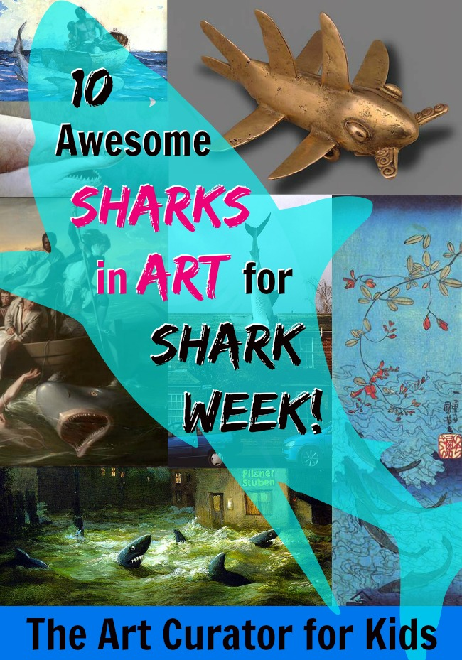 10 Awesome Sharks in Art for Shark Week