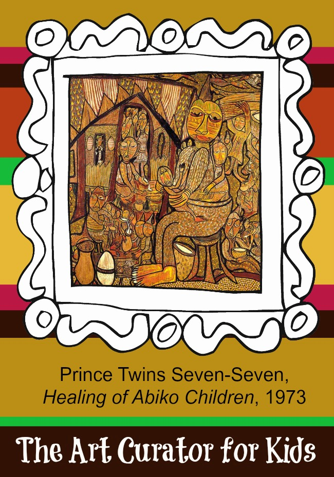 The Art Curator for Kids - Artwork of the Week - Twins Seven Seven, Healing of Abiko Children, 1973