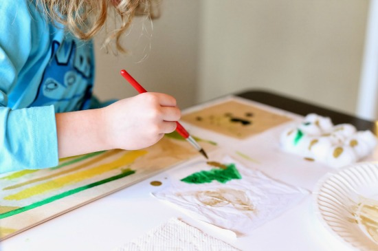 The Art Curator for Kids - Ways to Integrate Art and Science - Exploring Absorption with Watercolors on a Texture Board by Fun at Home with Kids - Science and Art Activities