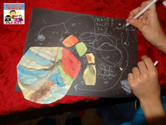 The Art Curator for Kids - Ways to Integrate Art and Science - Jupiter Art and Science Lesson by Adventures in Mommydom