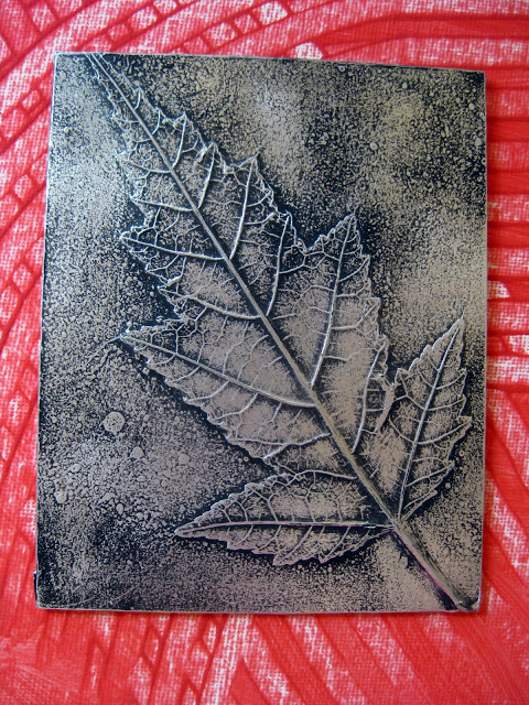 The Art Curator for Kids - Ways to Integrate Art and Science- Leaf Relief by Cassie Stephens - Science and Art Activities