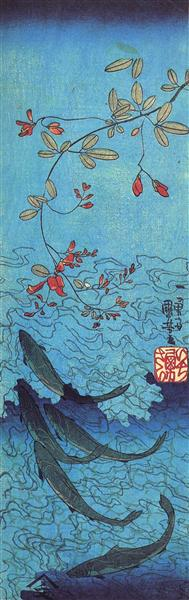 The Art Curator for Kids - 10 Awesome Sharks in Art for Shark Week - Utagawa Kuniyoshi, Sharks