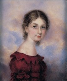 Anna Claypoole Peale, Watercolor on ivory portrait miniature of Marianne Beckett, 1829