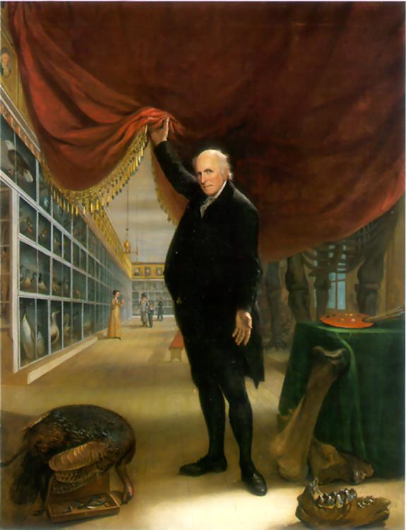 Charles Willson Peale Family, The Artist in His Museum (Self-Portrait), 1822