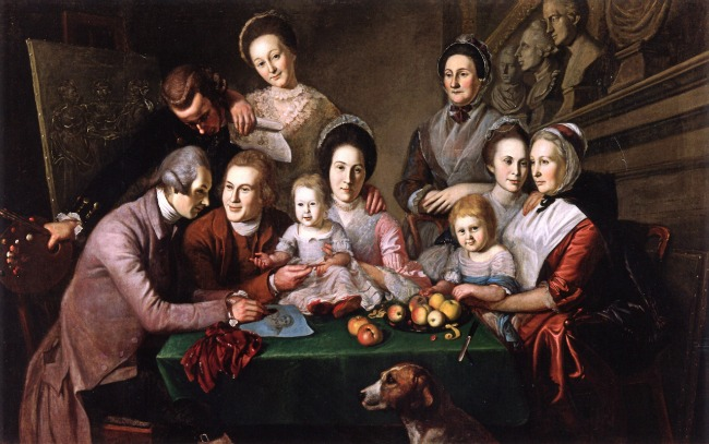The Peale Family Artists Charles Willson Peale, The Peale Family, 1773