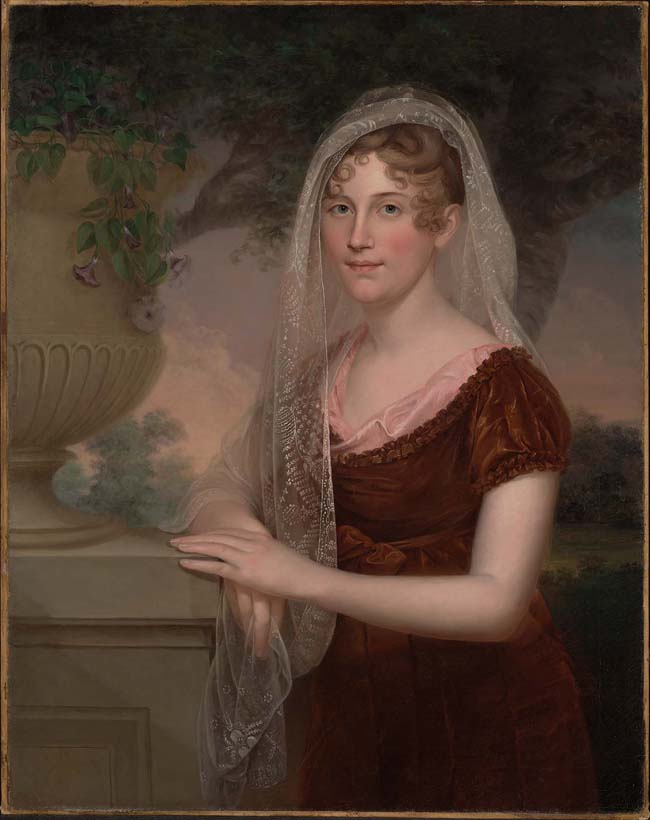 James Peale, Anna Claypoole Peale, about 1825