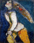 Marc Chagall, Young Girl in Pursuit, ca. 1927-28
