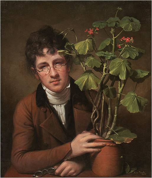 Rembrandt Peale, Rubens Peale with a Geranium, 1801