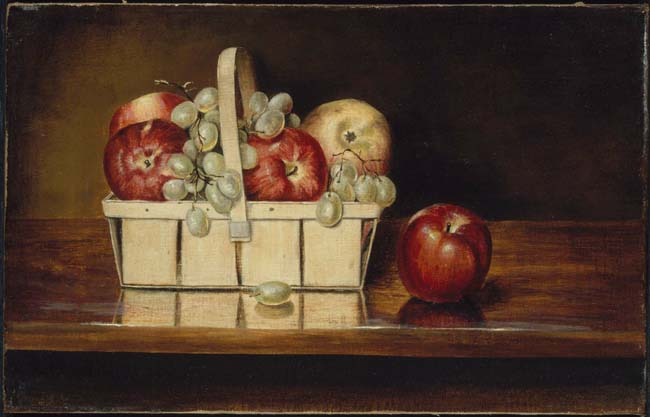 Rubens Peale, Basket of Fruit, 1860