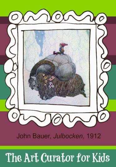 The Art Curator for Kids - Artwork of the Week - John Bauer, Julbocken, 1912