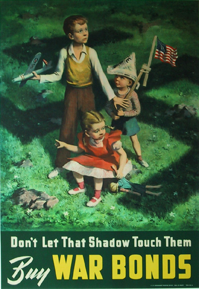 The Art Curator for Kids - Don't Let That Shadow Touch Them - Buy War Bonds - Artwork of the Week