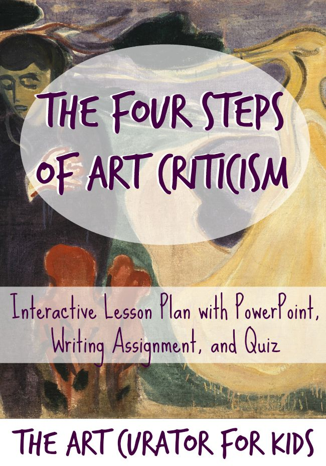 The Art Curator for Kids - The Four Steps of Art History - Lesson Plan with PowerPoint and Printable