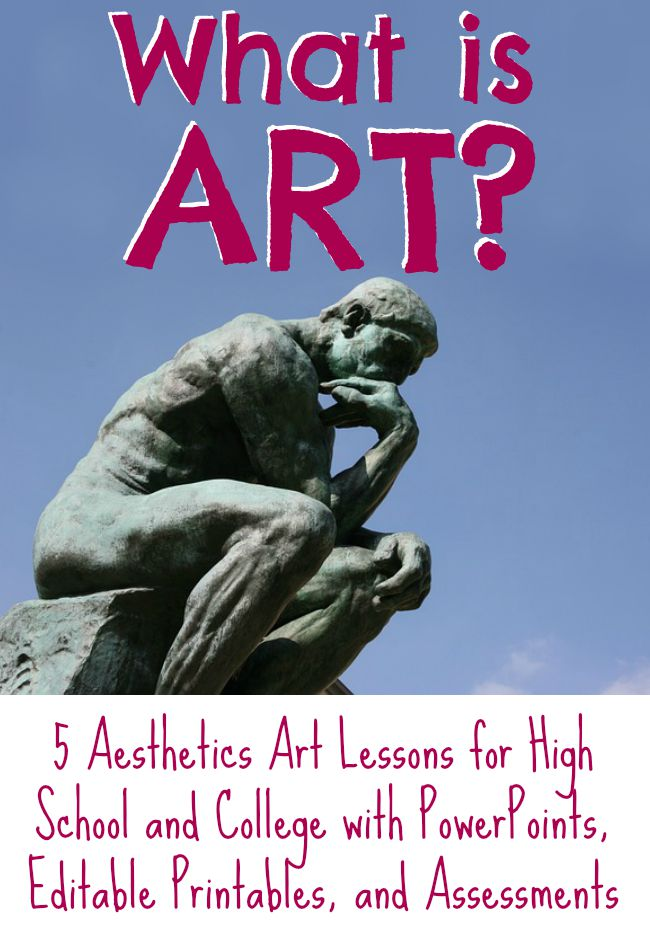 The Art Curator for Kids and Museum Art School - What is art - Aesthetics Lesson Plan Bundle with PowerPoints, Printable Worksheets, and Assessments