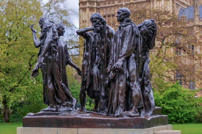 The Art Curator for Kids - Artwork of the Week - August Rodin Burghers of Calais