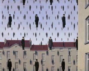 The Art Curator for Kids - Artwork of the Week - René Magritte's Golconda