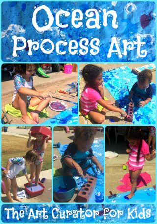 The Art Curator for Kids - Ocean Process Art