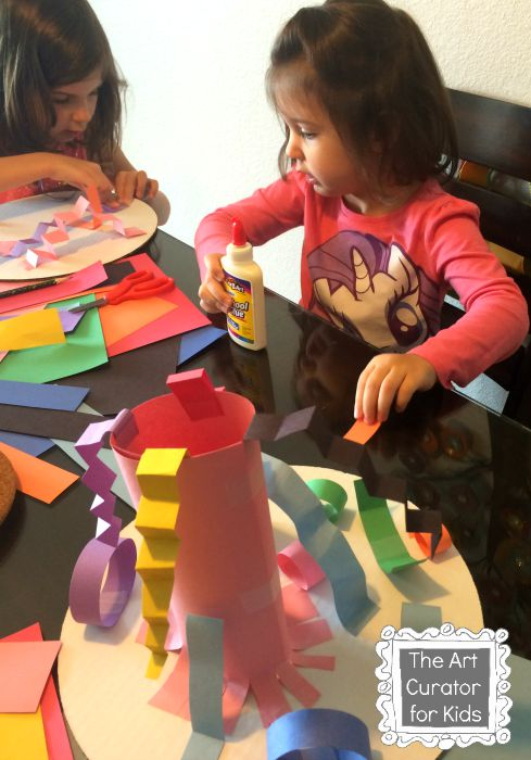 The Art Curator for Kids - Paper Sculptures inspired by Geometric MADI Art - Cultural Art for Kids, , MADI Art Project for Kids