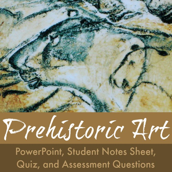 The Art Curator for Kids - Prehistoric Art Lesson - PowerPoint, Assessment, Quiz, Worksheet - SQ