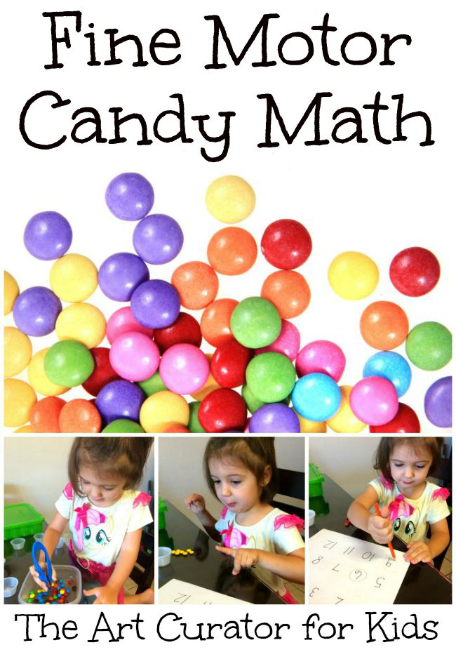 Preschool Fine Motor Math with Candy