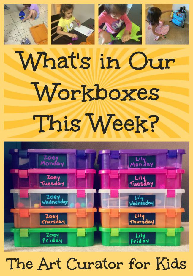 What's in Our Homeschool Workboxes? #1