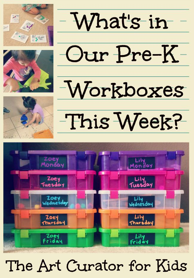 What's in our Preschool Workboxes? #1